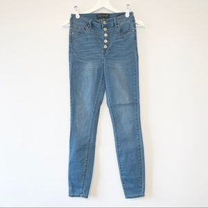 Bullhead Denim Super High Rise five button jeans